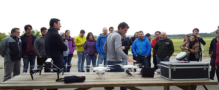 Noves eines per a l'estudi de processos geomorfològics: drons i làser escàners
